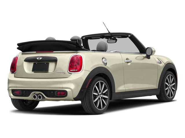 Pepper White 2018 MINI Convertible Pictures Convertible Cooper S FWD photos rear view