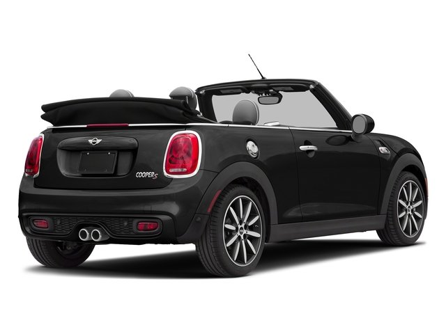 Midnight Black Metallic 2018 MINI Convertible Pictures Convertible Cooper S FWD photos rear view