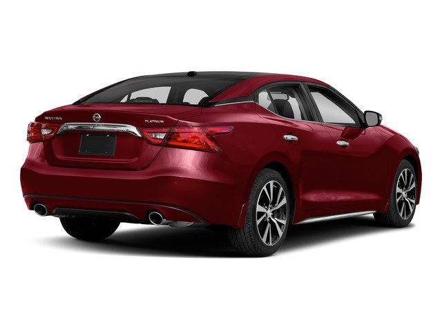 Carnelian Red 2018 Nissan Maxima Pictures Maxima Platinum 3.5L photos rear view