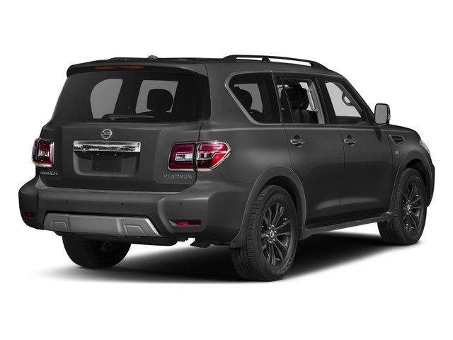 Gun Metallic 2018 Nissan Armada Pictures Armada 4x2 Platinum photos rear view