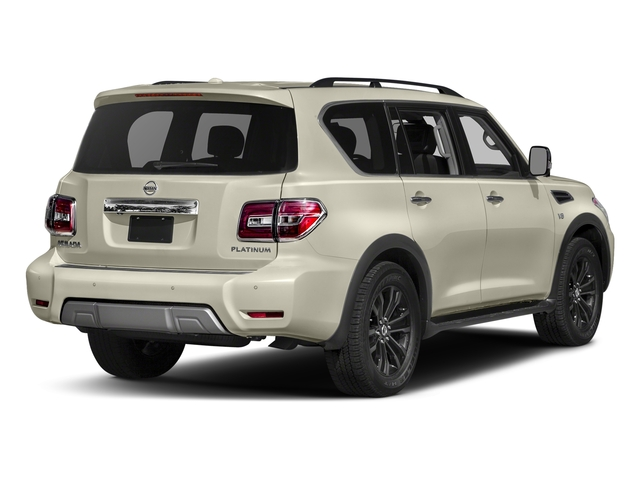 Pearl White 2018 Nissan Armada Pictures Armada 4x2 Platinum photos rear view