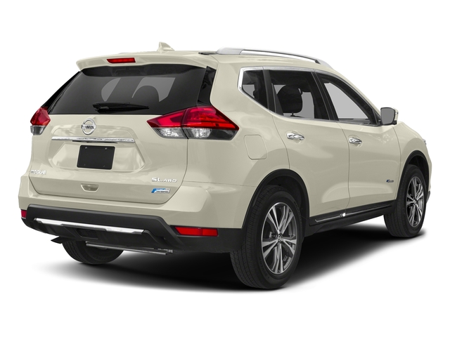 Pearl White 2018 Nissan Rogue Pictures Rogue FWD SL Hybrid photos rear view