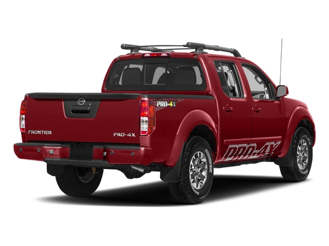 Lava Red 2018 Nissan Frontier Pictures Frontier Crew Cab 4x4 PRO-4X Manual photos rear view