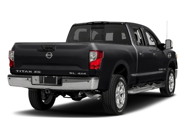 Magnetic Black 2018 Nissan Titan XD Pictures Titan XD 4x2 Gas Crew Cab SL photos rear view
