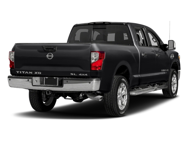 Magnetic Black 2018 Nissan Titan XD Pictures Titan XD 4x2 Diesel Crew Cab SL photos rear view