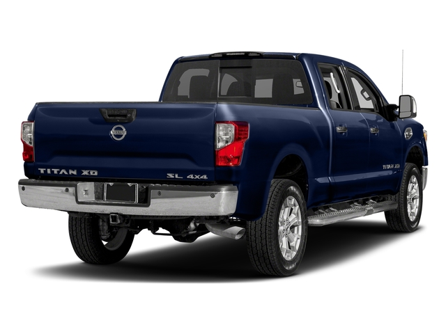 Deep Blue Pearl 2018 Nissan Titan XD Pictures Titan XD 4x2 Gas Crew Cab SL photos rear view