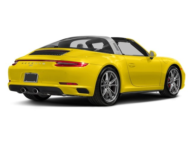 Racing Yellow 2018 Porsche 911 Pictures 911 Targa 4 GTS photos rear view
