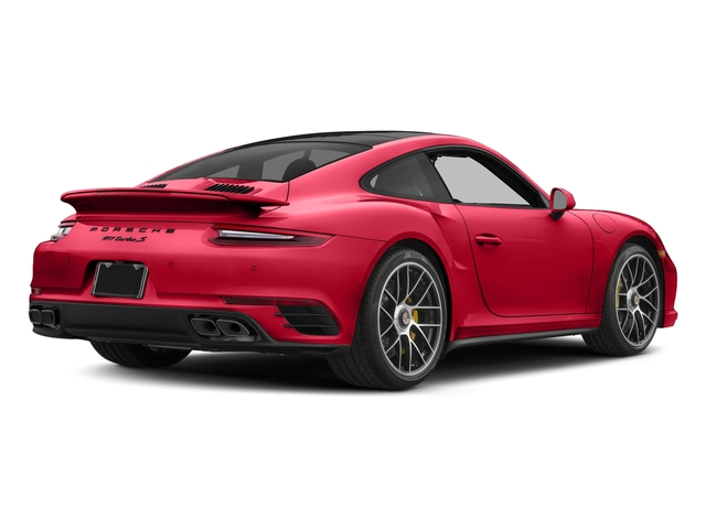 Guards Red 2018 Porsche 911 Pictures 911 Turbo S Coupe photos rear view
