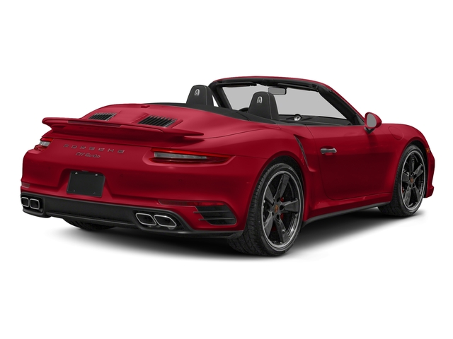 Carmine Red 2018 Porsche 911 Pictures 911 Turbo Cabriolet photos rear view