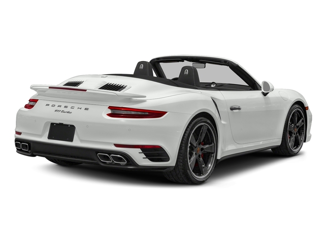 White 2018 Porsche 911 Pictures 911 Turbo Cabriolet photos rear view