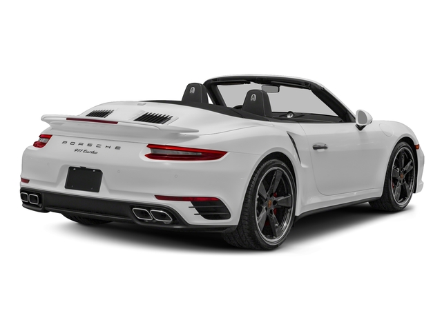 Carrara White Metallic 2018 Porsche 911 Pictures 911 Turbo Cabriolet photos rear view