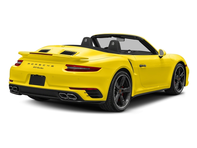 Saffron Yellow Metallic 2018 Porsche 911 Pictures 911 Turbo Cabriolet photos rear view