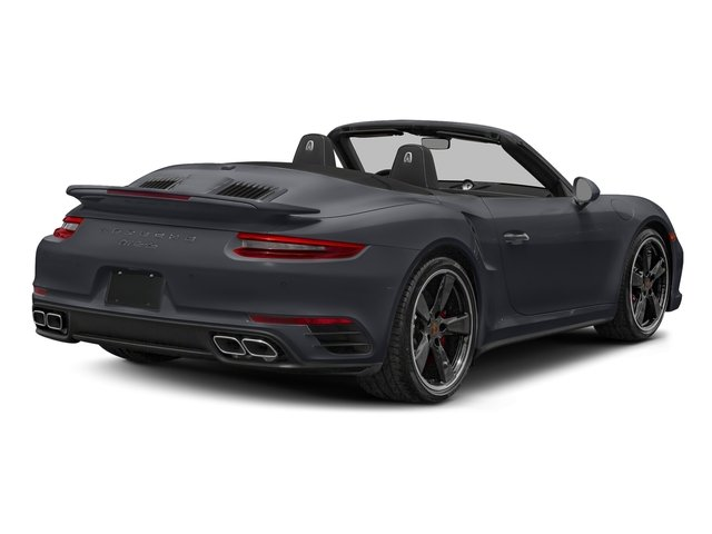 Graphite Blue Metallic 2018 Porsche 911 Pictures 911 Turbo Cabriolet photos rear view