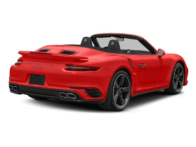 Lava Orange 2018 Porsche 911 Pictures 911 Turbo Cabriolet photos rear view