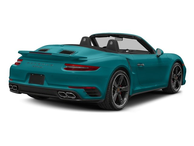 Miami Blue 2018 Porsche 911 Pictures 911 Turbo Cabriolet photos rear view