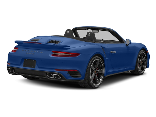 Sapphire Blue Metallic 2018 Porsche 911 Pictures 911 Turbo Cabriolet photos rear view