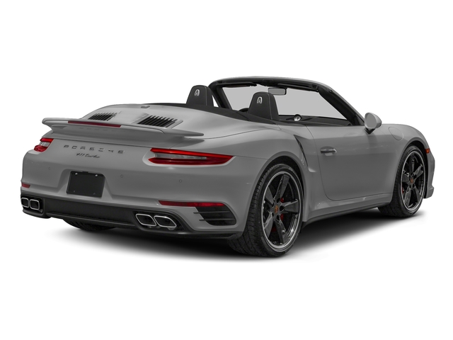 Rhodium Silver Metallic 2018 Porsche 911 Pictures 911 Turbo Cabriolet photos rear view