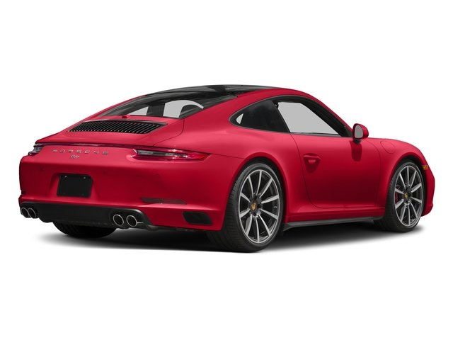 Guards Red 2018 Porsche 911 Pictures 911 Carrera 4S Coupe photos rear view