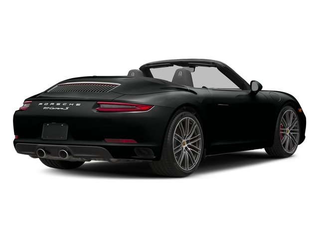 Jet Black Metallic 2018 Porsche 911 Pictures 911 Carrera S Cabriolet photos rear view