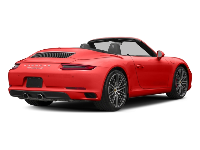 Lava Orange 2018 Porsche 911 Pictures 911 Carrera S Cabriolet photos rear view