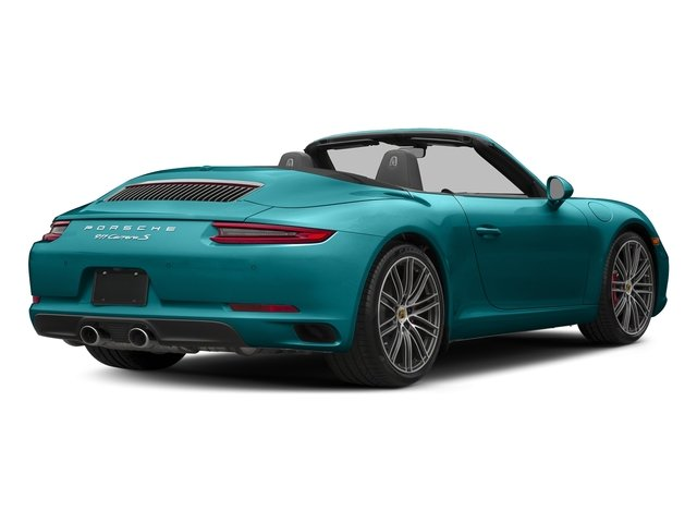 Miami Blue 2018 Porsche 911 Pictures 911 Carrera S Cabriolet photos rear view
