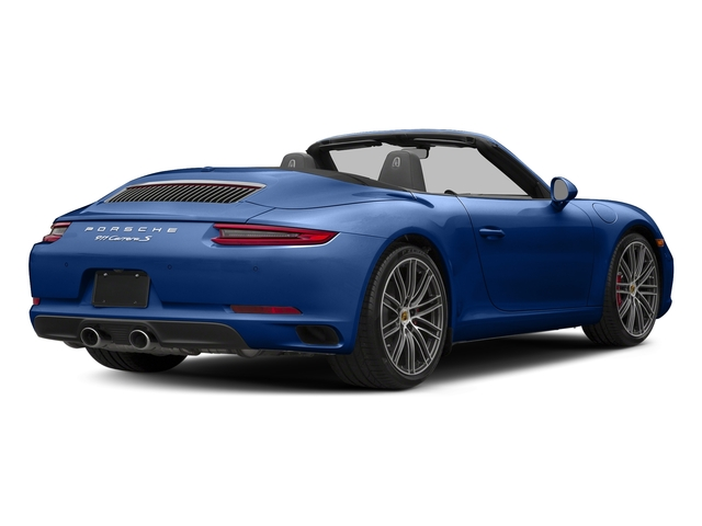 Sapphire Blue Metallic 2018 Porsche 911 Pictures 911 Carrera S Cabriolet photos rear view