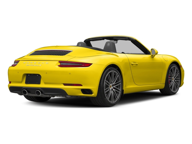 Racing Yellow 2018 Porsche 911 Pictures 911 Carrera S Cabriolet photos rear view