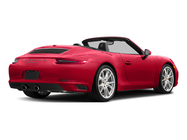 Guards Red 2018 Porsche 911 Pictures 911 Carrera 4 Cabriolet photos rear view