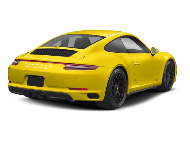 Racing Yellow 2018 Porsche 911 Pictures 911 Carrera 4 GTS Coupe photos rear view