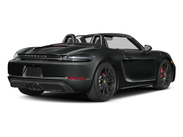 Jet Black Metallic 2018 Porsche 718 Boxster Pictures 718 Boxster GTS Roadster photos rear view