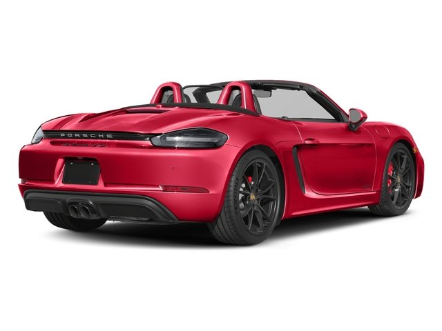 Guards Red 2018 Porsche 718 Boxster Pictures 718 Boxster GTS Roadster photos rear view