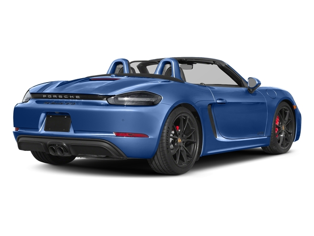 Sapphire Blue Metallic 2018 Porsche 718 Boxster Pictures 718 Boxster GTS Roadster photos rear view