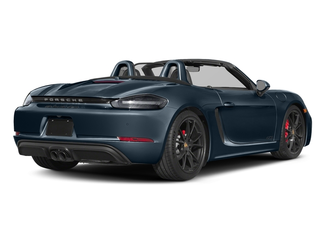 Night Blue Metallic 2018 Porsche 718 Boxster Pictures 718 Boxster GTS Roadster photos rear view