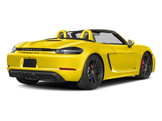 Racing Yellow 2018 Porsche 718 Boxster Pictures 718 Boxster GTS Roadster photos rear view