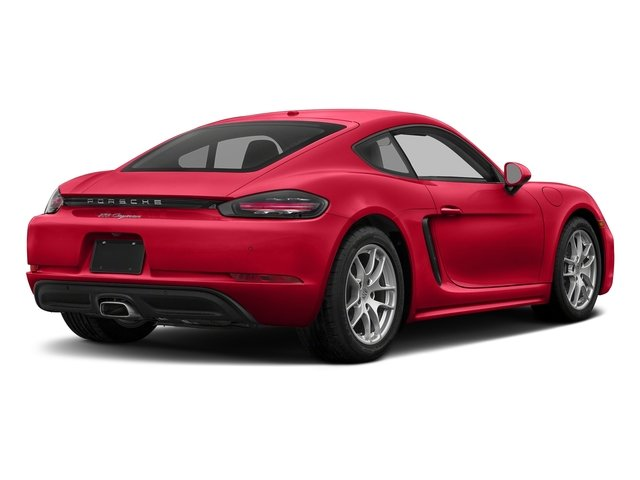 Guards Red 2018 Porsche 718 Cayman Pictures 718 Cayman Coupe photos rear view
