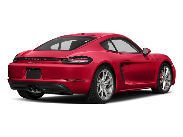 Guards Red 2018 Porsche 718 Cayman Pictures 718 Cayman S Coupe photos rear view