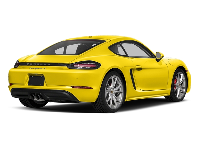 Racing Yellow 2018 Porsche 718 Cayman Pictures 718 Cayman S Coupe photos rear view