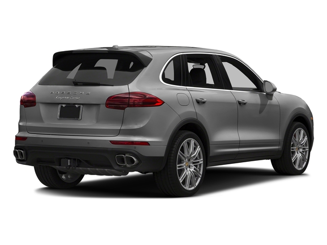 Rhodium Silver Metallic 2018 Porsche Cayenne Pictures Cayenne Utility 4D AWD V8 Turbo photos rear view