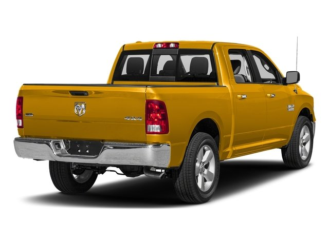 Detonator Yellow Clearcoat 2018 Ram Truck 1500 Pictures 1500 SLT 4x4 Crew Cab 5'7 Box photos rear view