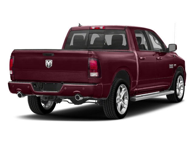 Delmonico Red Pearlcoat 2018 Ram Truck 1500 Pictures 1500 Night 4x4 Crew Cab 6'4 Box *Ltd Avail* photos rear view