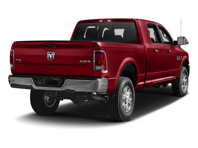 Flame Red Clearcoat 2018 Ram Truck 2500 Pictures 2500 Laramie 4x4 Mega Cab 6'4 Box photos rear view
