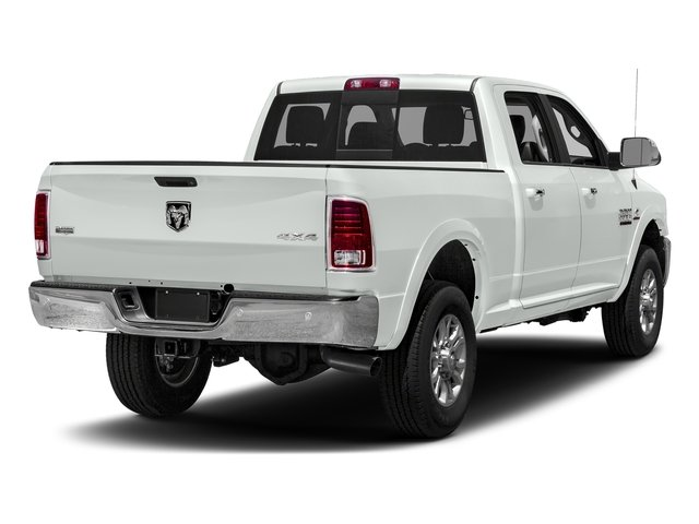 Bright White Clearcoat 2018 Ram Truck 3500 Pictures 3500 Laramie Longhorn 4x4 Crew Cab 6'4 Box photos rear view