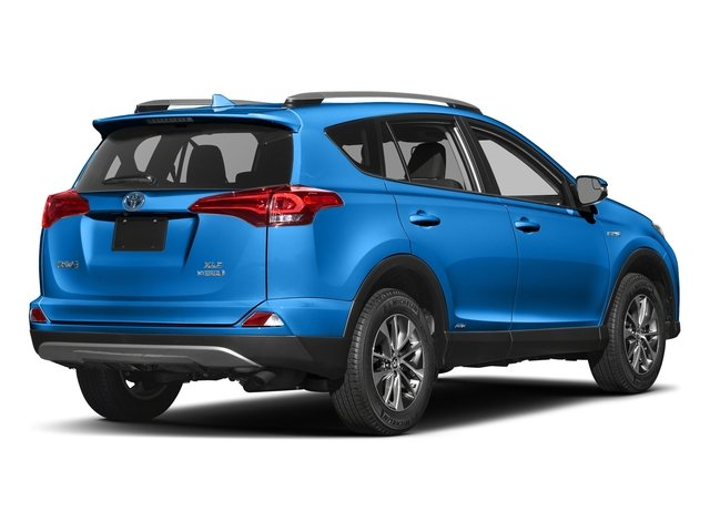 Electric Storm Blue 2018 Toyota RAV4 Pictures RAV4 Utility 4D XLE AWD I4 Hybrid photos rear view