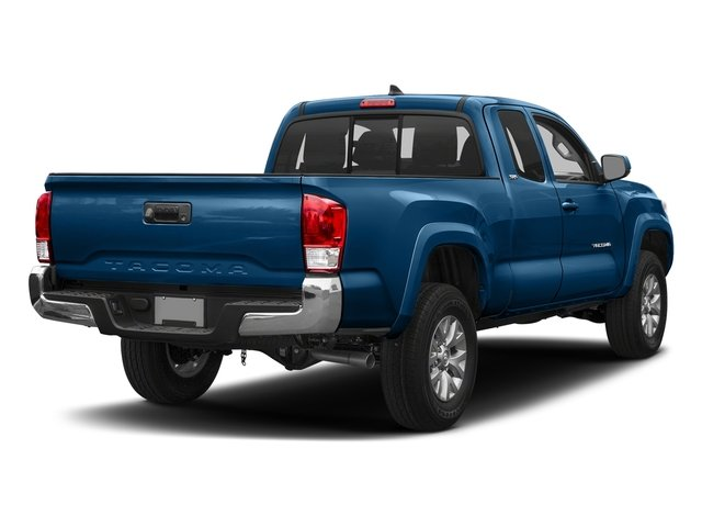 Blazing Blue Pearl 2018 Toyota Tacoma Pictures Tacoma SR5 Extended Cab 4WD I4 photos rear view