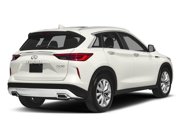 Lunar White 2019 INFINITI QX50 Pictures QX50 LUXE FWD photos rear view