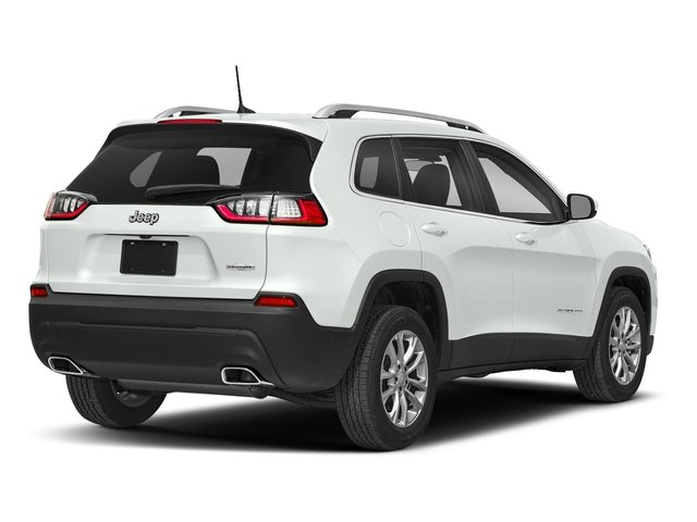 Bright White Clearcoat 2019 Jeep Cherokee Pictures Cherokee Latitude FWD photos rear view
