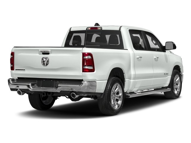Bright White Clearcoat 2019 Ram Truck 1500 Pictures 1500 Tradesman 4x4 Crew Cab 5'7 Box photos rear view