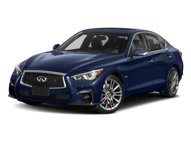 2018 Infiniti Q50 Red Sport 400 Awd Side Front View