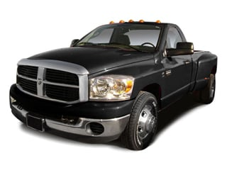 2009 Dodge Ram 3500 Pictures Ram 3500 Regular Cab SXT 4WD photos side front view