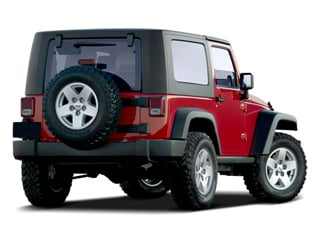 2009 Jeep Wrangler Pictures Wrangler Utility 2D X 4WD photos side rear view